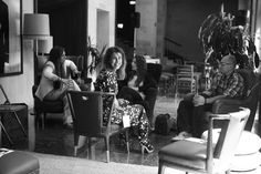"""Alejndra Nuño directora de Amor Propio Comunicación, en la II Mesa Redonda de """"Tendencias Gastronómicas"""", con Carmen Ordiz, Isabel de Aliter Dulcia y David Maldonado del blog """"Con el Morro Fino"""""""