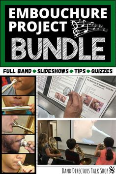 Middle school band directors, check this out! This embouchure bundle for concert band was designed to help you be a better beginning band director so your students can be better musicians. We all know that a picture is worth more than 1,000 words. More than 100 embouchure faces, band teacher tips, student sheets, instrument quizzes, band instrument placement guides & more! Percussion too! Great for beginning brass, woodwind & percussion classes! Fun for music distance learning & teaching… Music Teachers, Music Classroom, Music Education, Teaching Orchestra, Piano Teaching, Music Lesson Plans, Music Lessons, Concert Band Music, Faces Band