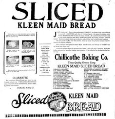 Sliced Bread, 'The Greatest Thing', Turns 85 - DesignTAXI.com