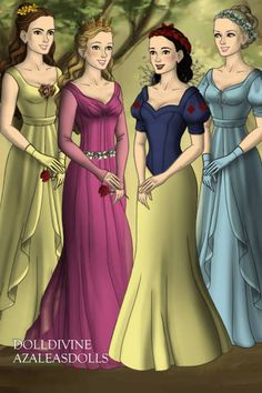 princesses ~ by Lix ~ created using the LotR Hobbit doll maker | DollDivine.com
