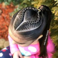 Medium Haircuts For Girls Baby Girl Hairstyles, Kids Braided Hairstyles, Baddie Hairstyles, Box Braids Hairstyles, Cornrows, Curly Hair Styles, Natural Hair Styles, Girl Hair Dos, Girls Braids
