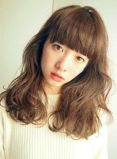 外国人風 /重めバング×ナチュラルパーマ 【LOAVE AOYAMA】 http://beautynavi.woman.excite.co.jp/salon/26916?pint ≪ #longhair #longstyle #longhairstyle #hairstyle ・ロング・ヘアスタイル・髪型・髪形≫