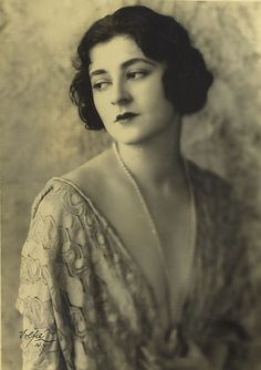 Portrait of Lucille Lortel , ca. 1920's, by Achille Volpe//