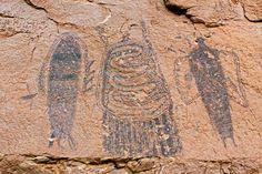 Alan Cressler Painel Intestino Man, arte rupestre, área de Moab, o Grand County, Utah 3