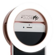 GlowMe® LED Selfie Ring Light for Mobile Devices (USB Rechargeable) - Impressions Vanity Co. Gifts For Makeup Lovers, Hollywood Vanity Mirror, Vanity Mirrors, Led Selfie Ring Light, Light Ring, Ring Light Mirror, Studio Ring Light, Swarovski, Amethyst Geode