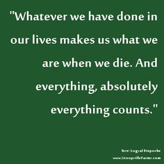 what counts in your life?