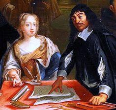 Queen Christina of Sweden and Rene Descartes.
