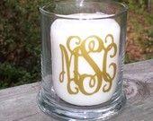 monogram candle holder