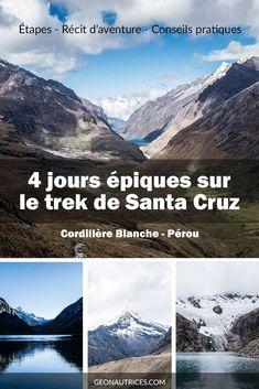 4 jours épiques sur les sentiers du trek de Santa Cruz dans la cordillère Blanche au Pérou. Un trek magnifique dont voici le récit de notre épopé et les conseils pour faire ce trek en autonomie sans guide. Dites-nous si cet article vous aura été utile ! Bonne lecture ! #santacruz #perou #andes #trek Estes Park, Bolivia, Solo Travel, Things To Do, Places To Go, Road Trip, Voici, Landscape, World