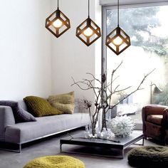 Light up your home, bar, restaurant, or office with one of these fabulous modern Nordic hanging lights! Power Source: AC Suitable for Voltage: - Sold individually. Free Worldwide Shipping & Money-Back Guarantee Hanging Frames, Hanging Lights, Home Lighting, Modern Lighting, Bamboo Pendant Light, Modern Industrial Decor, French Country Bedrooms, Chandelier For Sale, Bedroom Lamps