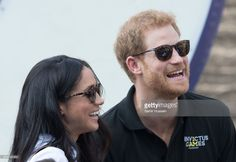 Meghan Markle and Prince Harry appear together at the wheelchair tennis on day 3 of the Invictus Games Toronto 2017 on September 25, 2017 in Toronto, Canada. The Games use the power of sport to inspire recovery, support rehabilitation and generate a wider understanding and respect for the Armed Forces. (Photo by Samir Hussein/WireImage)