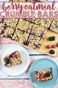 Berry Oatmeal Crumble Bars: A Crisp Oatmeal Shell Surrounding A Sweet Homemade Berry Jam - Delicious With Blueberries, Blackberries, Raspberries, Or Strawberries Bunsen Burner Bakery Via Bnsnbrnrbakery Best Dessert Recipes, Fruit Recipes, Easy Desserts, Delicious Desserts, Bar Recipes, Rhubarb Recipes, Amazing Recipes, Spring Recipes, Holiday Recipes
