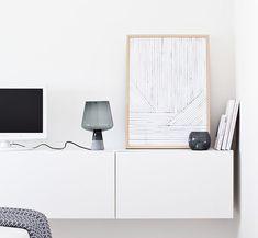 Sleek storage in the bedroom of the fabulous Finnish home of Maja / Musta Ovi.