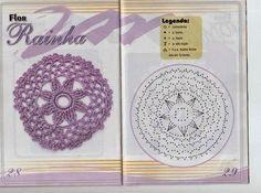 como hacer flores en crochet Crochet Motif Patterns, Crochet Chart, Free Crochet, Knitting Patterns, Crochet Ideas, Crochet Circles, Crochet Squares, Crochet Doilies, Irish Crochet