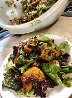 Σαλάτα με κοτόπουλο μπουκίτσες!!! ~ ΜΑΓΕΙΡΙΚΗ ΚΑΙ ΣΥΝΤΑΓΕΣ 2 Salad, Ethnic Recipes, Food, Essen, Salads, Meals, Lettuce, Yemek, Eten