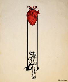 "Saatchi Online Artist Henri Banks; Street Art, ""Heart Swinger"" #art-tatt idea"