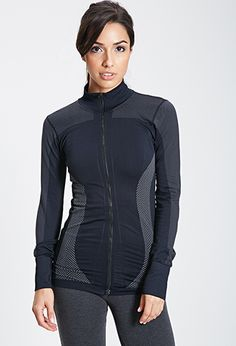 Seamless Zip-Up Track Jacket | FOREVER21 - 2000080756