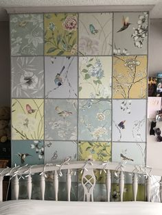Inspired by Angel Adoree from Escape to the Chateau. I've done my own wallpaper sample wall in my bedroom. Diy Wallpaper, Wallpaper Samples, Print Wallpaper, Flower Wallpaper, Bedroom Wall Colors, Home Decor Bedroom, Bedroom Ideas, Master Bedroom, Angel Adoree