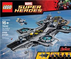 Buy LEGO Super Heroes - The SHIELD Helicarrier at Mighty Ape NZ. Take on the challenge of building this awesome LEGO® model of The SHIELD Helicarrier. Construct the flying aircraft carrier with 2 runways, microscale. Marvel Avengers, Avengers Shield, Lego Marvel Super Heroes, Avengers Superheroes, Marvel Fan, The Shield, Hawkeye, Lego Spiderman, Maria Hill