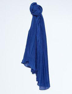Chèche uni                                             bleu Foncé Femme - 6,00€