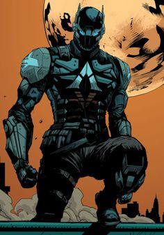 "marvel-dc-art: "" Arkham Knight: Genesis pencil & ink by Dexter Soy color by Dave McCaig "" Comic Book Characters, Marvel Characters, Comic Character, Comic Books Art, Comic Art, Character Design, Nightwing, Batgirl, Foto Batman"