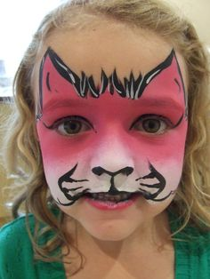 kids face painting pink