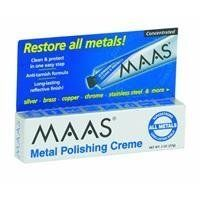 Maas 91403 Polishing Creme For All Metals by Maas, http://www.amazon.com/dp/B001AH8K4U/ref=cm_sw_r_pi_dp_7Xpcqb1AM2ZH4  I want to use on stainless steel sinks, faucets, etc.  Reviews are great.