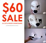 $60 ON ALL CUT AND HINGED CANINE BLANKS by ~yeep-yeep on deviantART