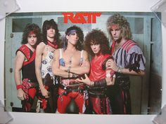 """""""RATT Circa 1984 Photographer Unknown Ratt is an American heavy metal band that had significant commercial success in the with their albums having been certified as gold,. Big Hair Bands, Hair Metal Bands, 80s Music, Rock Music, Bobby, 80s Hair Metal, Glam Metal, Heavy Metal Music, Rockn Roll"""