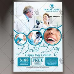 Dentist Day – Premium Flyer PSD Template. #clinical #creative #dental #dentist #doctor #fitness #health #healthcare #hospital #insurance #medical #medicine #patient #vet DOWNLOAD PSD TEMPLATE HERE: https://www.psdmarket.net/shop/dentist-day-premium-flyer-psd-template/ MORE FREE AND PREMIUM PSD TEMPLATES: https://www.psdmarket.net/shop/