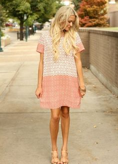 peaches and cream dress