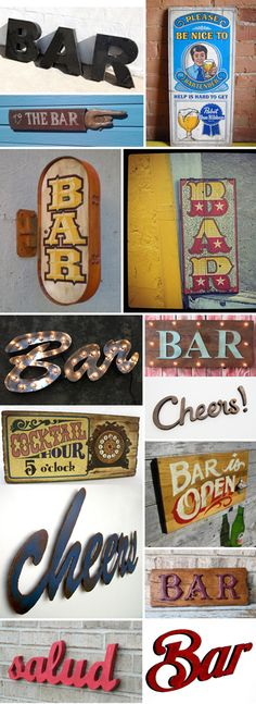 bar signs to hang in your home bar or kitchen