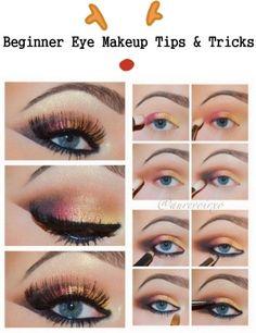 Beginner eye make up tips and tricks