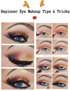 Beginner eye make up tips and tricks