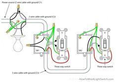 Wiring Lighting Fixtures Way Switch Diagram (Power into