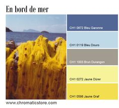 Les vacances approchent et avec elles des envies de soleil (jaune) et de liberté (bleu). #bleu #couleur #deco www.chromaticstore.com
