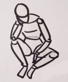 A basic simplified approach to figure drawing using cylinder figures to begin.