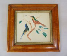 This is a lovely 19th century watercolour of hummingbirds in tree foliage after insects in flight. The painting is in excellent clean condition and is framed in its original burr walnut frame with gilt and gesso mount. Antiques Atlas Watercolour Paintings, Watercolor, Hummingbirds, Antique Items, 19th Century, Insects, Antiques, Frame, Art