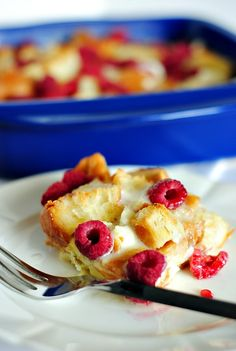 Baked Raspberry French Toast  you-made-that.com
