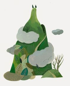 illustrations for poetry book by Inca Pan, via Behance