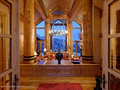 Entryway With Mountain View >> http://coolhouses.frontdoor.com/2012/12/21/custom-built-contemporary-in-snowmass-village/?soc=pinterest#