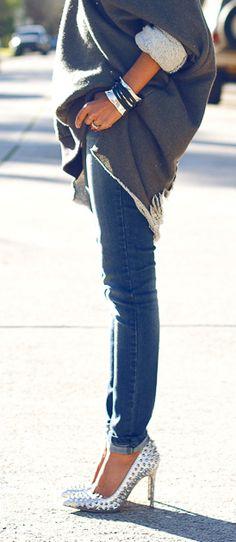 metallic heels