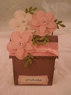 "Stampin Up! ""Get Well"" handmade Card  **I like the 3D flower** kw"