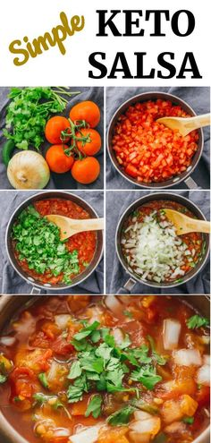 This is an easy recipe for making homemade, fresh Mexican salsa that is chunky and as spicy as you want. You only need 5 ingredients, and it is great for low carb, keto, paleo, vegetarian, and vegan diets.
