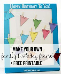 Birthday Board with FREE printable!