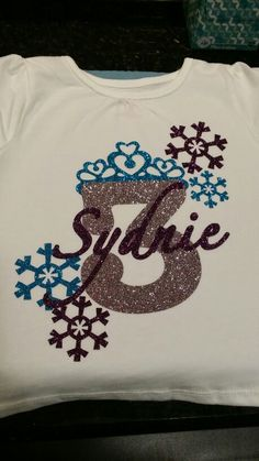 Girl S Elsa Shirt Glitter Vinyl Custom Frozen T Shirts