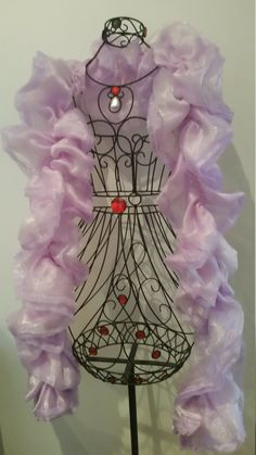 Lilac Delight: Purpl/Lilac Organza Boa by RoseVonSweet on Etsy