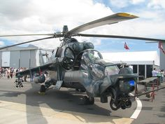 Russian Mi 24 Super Hind Helicopter at Ysterplaat Airshow, Cape Town by DanieVDM.