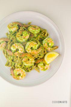 Weeknight Meals via @CookSmarts: Pesto Pasta with Shrimp #recipe  http://www.cooksmarts.com/cs-blog/2014/07/pesto-pasta-shrimp-recipe/