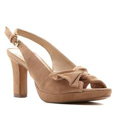 f17852ee93caf Naturalizer Fawn Suede Peep-Toe Slingback Pump